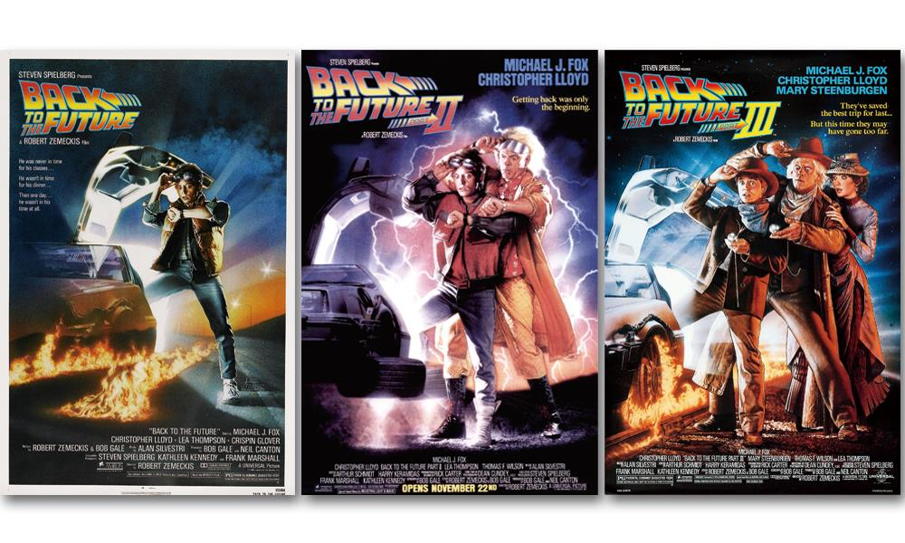 Back to the Future I II III movie 3pcs poster print silk fabric cloth wall sticker Wall Decor custom print