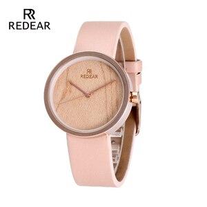 Для женщин часы цвета розового золота с клена Просмотрам масштаба Watche с милый розовый кожаный ремешок, как дочь мама подарки