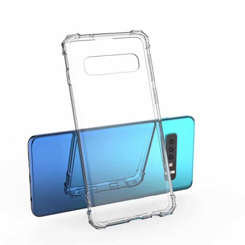 Para Samsung S10E Limpar Soft Case de Silicone Para Samsung Galaxy S10 S9 S8 Plus Nota 8 9 M10 M20 A6 a8 Plus A7 2018 Capa À Prova de Choque