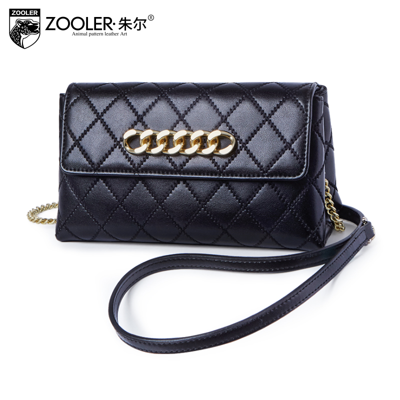Elegant for lady!New 2018 ZOOLER genuine leather woman messenger bags real leather shoulder bag cross body bolsa feminina#B215 zooler 2018 luxury genuine leather bag for woman chain shoulder bag designer woman fashion cross body bags bolsa feminina bc100