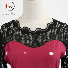 Elegant Vintage Women Casual Short Sleeve Prom Slim Christmas Party Dress