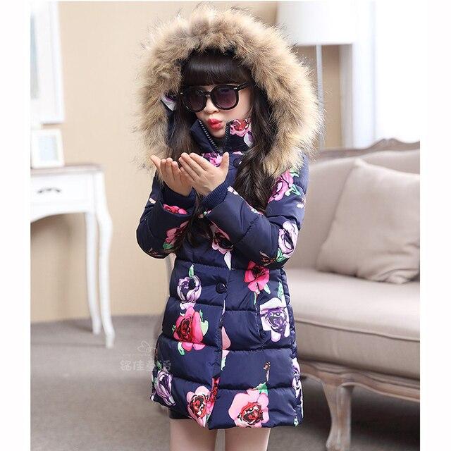 d0b7e3bdd4f2 Girls Wadded Jacket Thermal Winter Children Outerwear for Girls ...