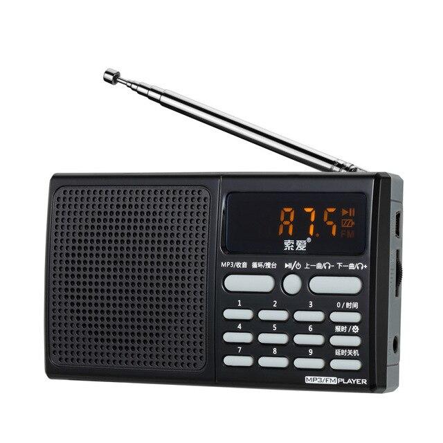 Новинка портативные мини-fm спикер радио в возрасте лучший мини-цифровых FM радио с USB SD карты встроенный динамик S95