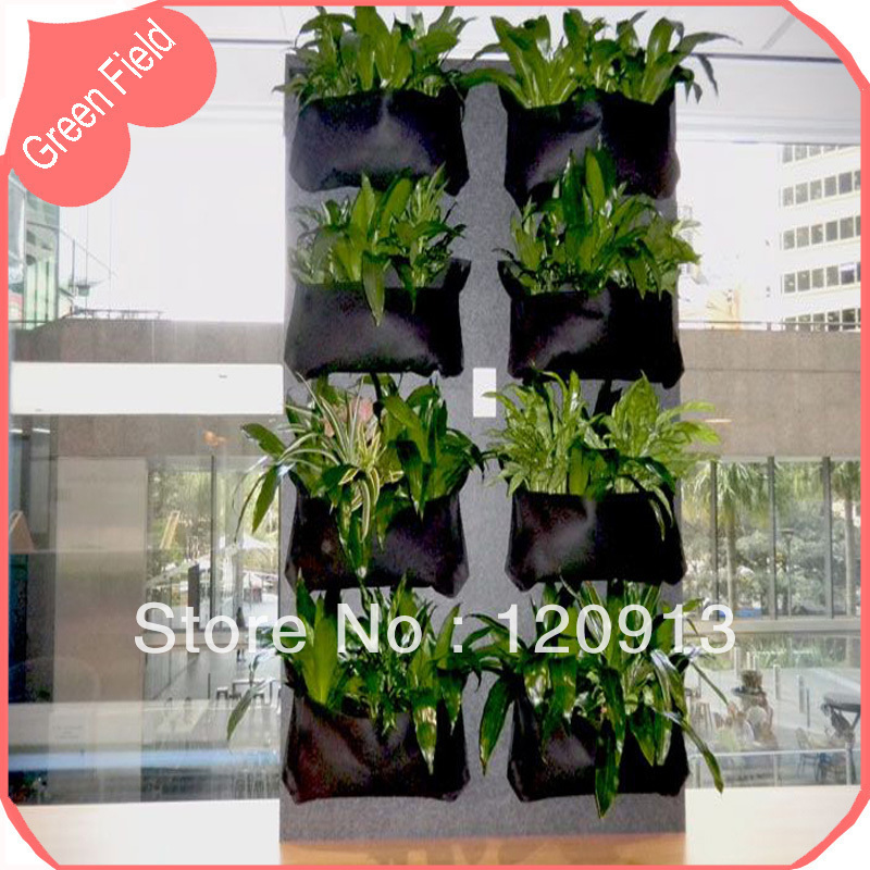 Free Shipping Mini Flower Pot Hanging Garden Pot Living Wall Gardening  Planter Pot Outdoor And Indoor Felt Wall Pot Planter In Flower Pots U0026  Planters From ...