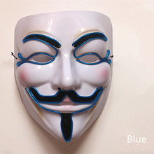 V Style EL Light Mask Halloween costume ball Party Decorations Adult Event Supplies