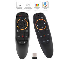 G10 télécommande vocale 2.4G sans fil Air souris Microphone Gyroscope IR apprentissage pour Android tv box T9 H96 Max X96 mini(China)