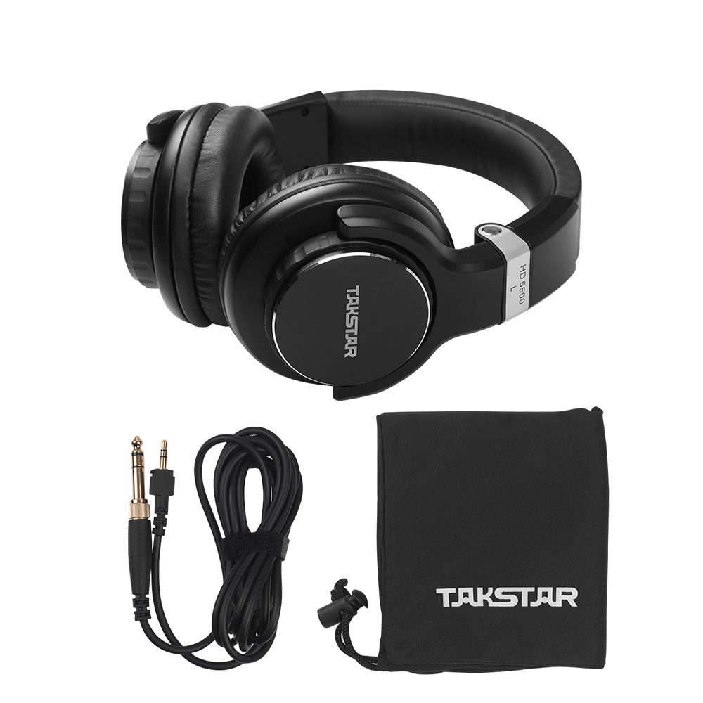 TAKSTAR HD 5500 Over Ear Headphone Professional Studio DJ Headphones Noise Cancelling Wired Headset for Music