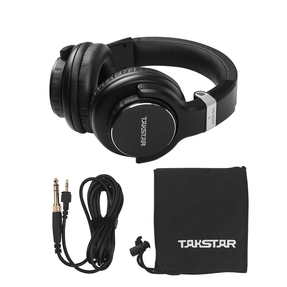 TAKSTAR HD 5500 Over Ear Headphone Professional Studio DJ Headphones Noise Cancelling Wired Headset for Music Appreciation