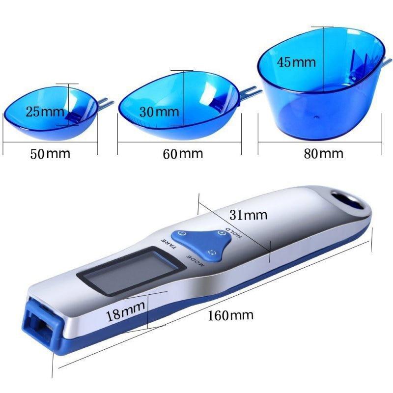 WFGOGO Gram Electronic Spoon Weight Volumn Food Scale 3pcs set 300g 0 1g Portable LCD Digital Kitchen Scale Measuring Spoon in Kitchen Scales from Home Garden