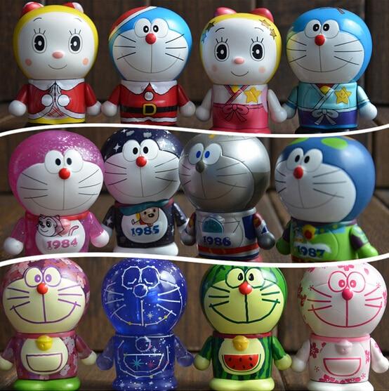 hot ! NEW 1PCS 7.5cm 20 style Doraemon B 100th Anniversary Souvenir Robot Soul action figure toys Christmas toy new hot 18cm one piece rob lucci cp9 action figure toys collection christmas gift doll no box