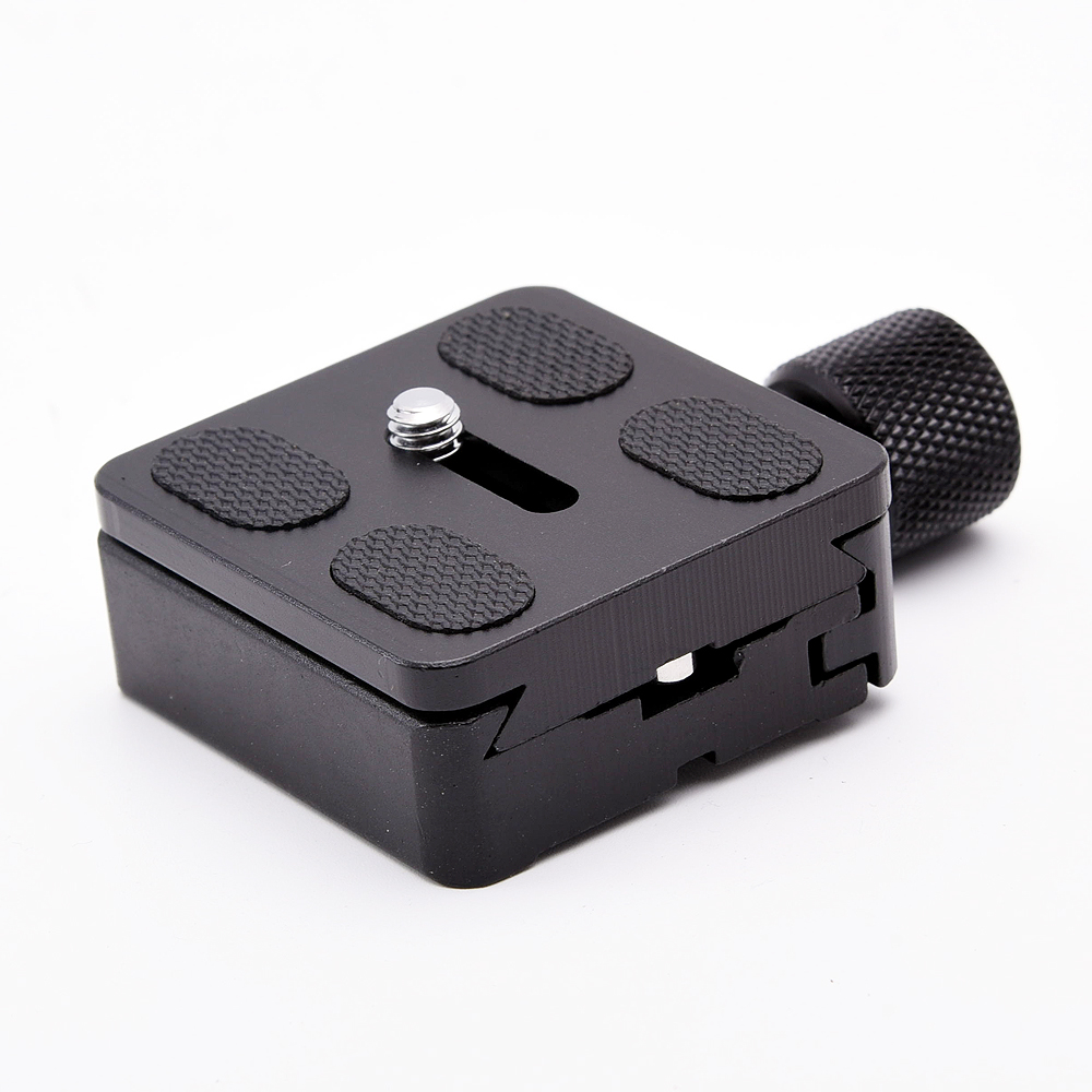 SETTO Adapter Plate Square Clamp with Gradienter for Quick Release Plate for Tripod Ball Head Arca Swiss RRS Wimberley