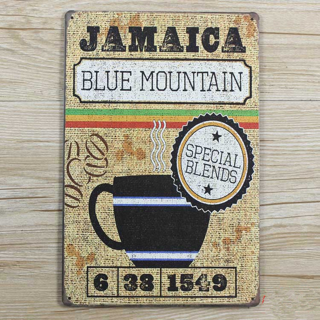 New Arrival Xd284 Jamaica Blue Mountain Vintage Metal Signs Home