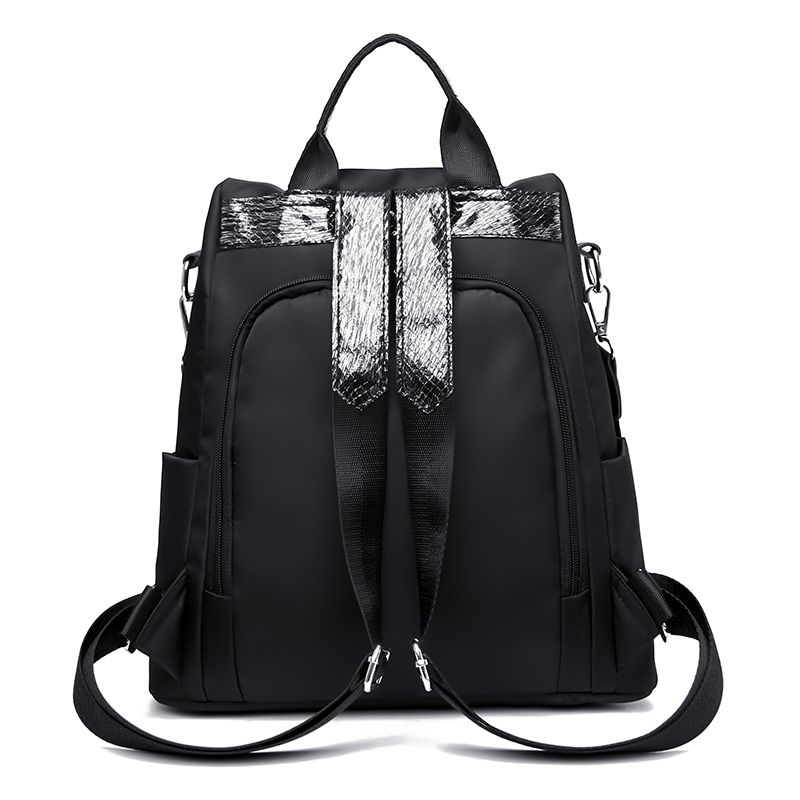 HTB139N1MhTpK1RjSZFKq6y2wXXa4 Simple style ladies backpack anti-theft Oxford cloth tarpaulin stitching sequins juvenile college bag purse Bagpack Mochila
