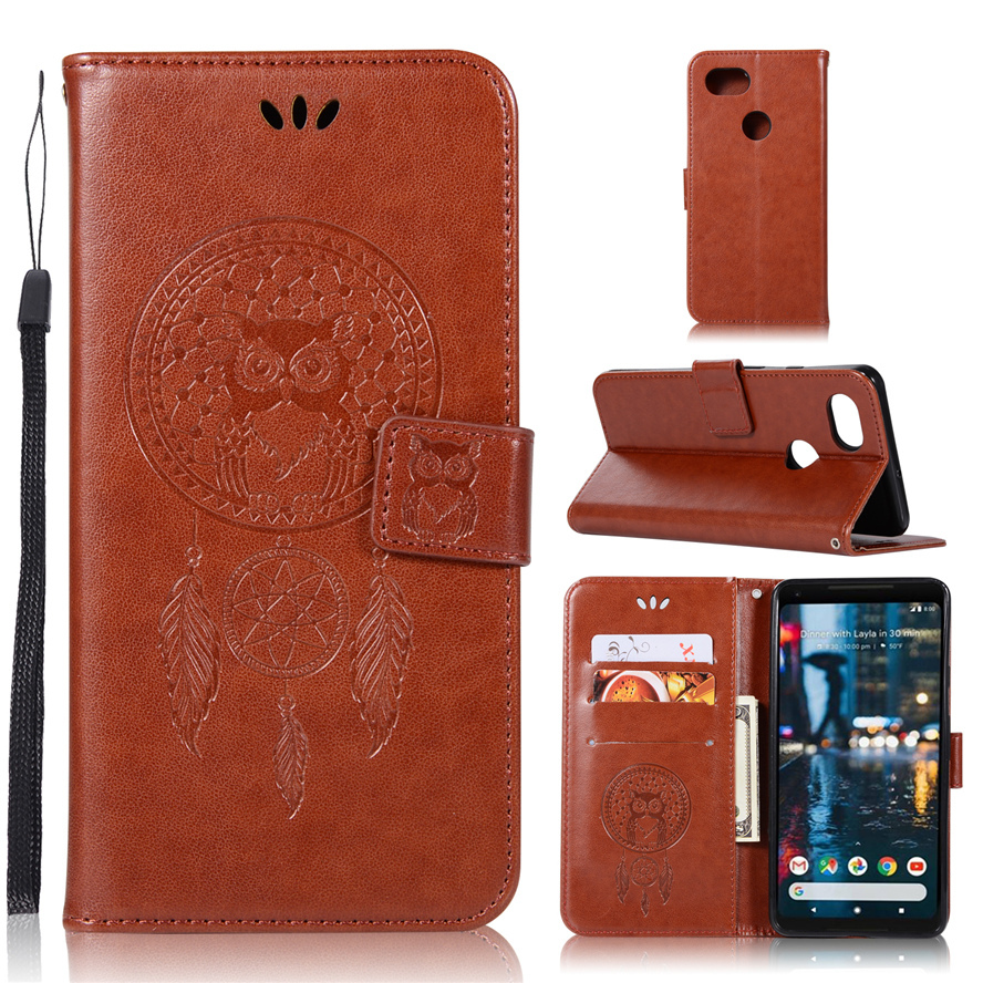 3D Luxury Owl Retro Leather Wallet Flip Cover For Google Pixel 2 Case PU Leather Wallet Phone Cases For Google Pixel 2 XL Pixel2