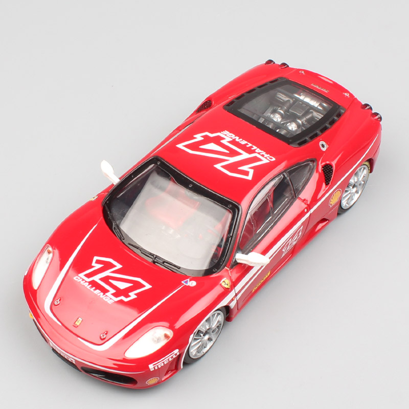 kid's <font><b>1:43</b></font> Scale Small Enterbay luxury sports race <font><b>car</b></font> F430 challenge Plastic vehicle <font><b>cars</b></font> toys miniatures models for collection image