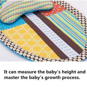 Image 5 - בטן זמן פעילות לשחק מחצלת ארגונומי קטיפה כרית תינוק מראה רטוב צעצועים שינוי Pad גובה למדוד תרשים
