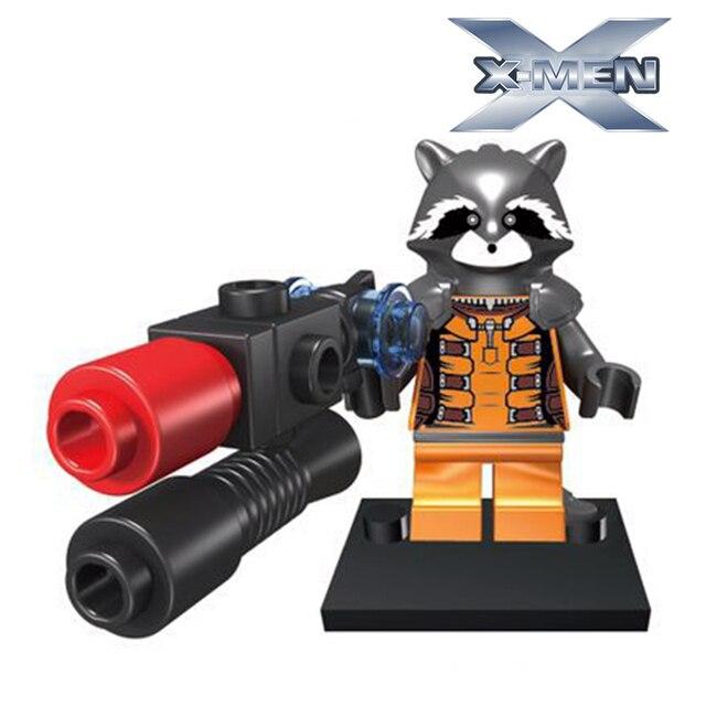 Building Blocks Rocket Racoon diy figures Super Hero Guardians of the Galaxy Avengers X-Men Sets Model Bricks Kids Classic Toys