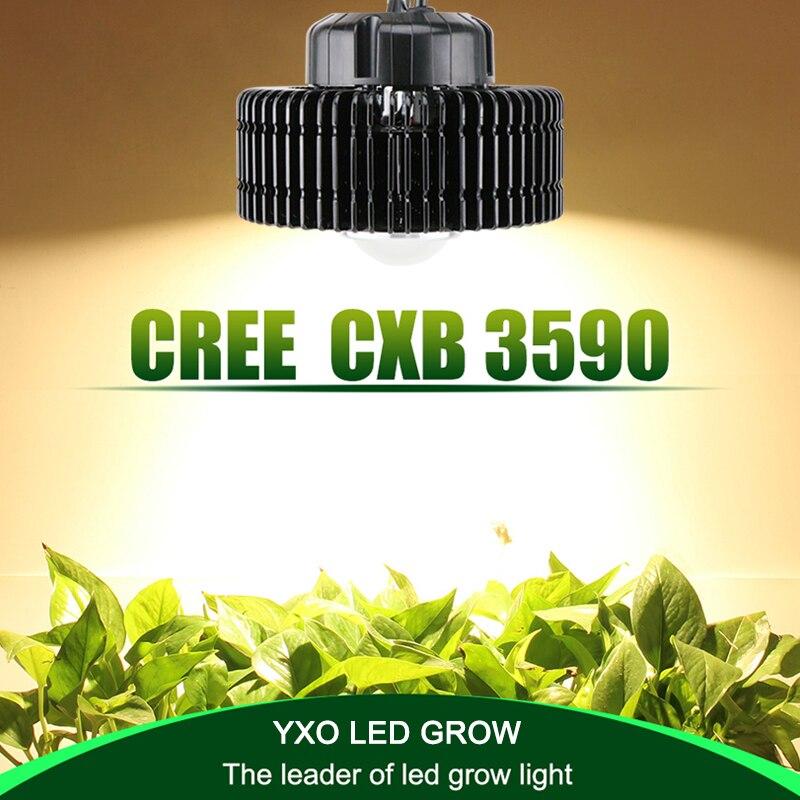 100 w CREE CXB3590 COB spectre complet led élèvent la lumière pour serre hydroponique Intérieure grandir tente commerciale plantes médicinales croissance