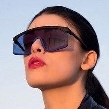 2019 Womens Oversized Flat Top Siamese Sunglasses Retro Brand Sun glasses Ladies Summer Black Beach Glasses Women UV400