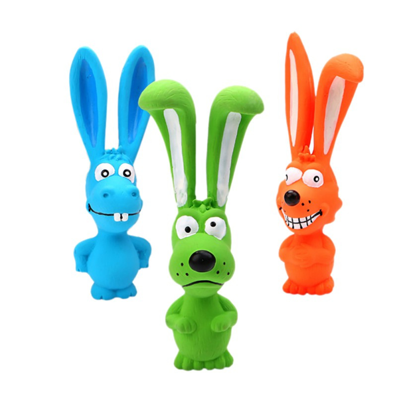 1pc Toy For Dogs Puppy Screaming Rubber Rabbit Toy For Dogs Latex Squeak Squeaker Chew Training Products