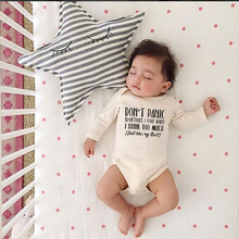 Boys Panic My-Aunt Baby Bodysuit Outfits Letters Long-Sleeve Little-Girls White Print