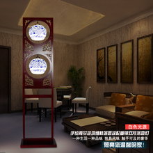 Китайский Стиль Бело-Голубой Фарфор Лампы Гостиной Спальня Творческий Бамбук Держатель Лампы Большая Керамическая Напольная Стойка Домашний Свет