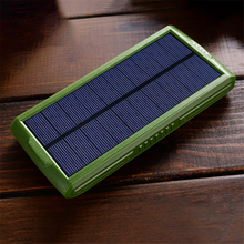 20000mAh Solar Power Bank Portable Solar Charger Dual USB External Battery Mobile phone Charging Treasure Outdoor Portable LED