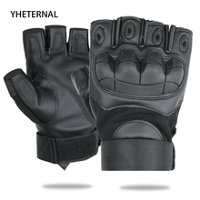 Military Tactical Fingerless Gloves Army Bicycle Airsoft Special Forces Fitness Leather Knuckle Half Finger Shooting Gloves Men
