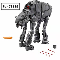 1541pcs Diy Building Blocks Star Wars First Order Heavy Assault Walker Comptiable With L Brand Toys For Children kids gift