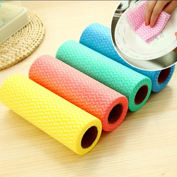 50pcs/roll Kitchen Rags Home Washing Dish Multifunctional Cleaning Tools  Non Stick Oil Wiping Rags Towel Car Wash Rags In Cleaning Cloths From Home  U0026 Garden ...