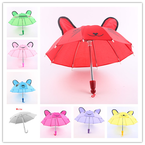 Doll accessories,8 colors Rain Umbrella fit 18 inch American Girl Doll, best birthday gift for children b880-b886 9 colors american girl doll dress 18 inch doll clothes and accessories dresses