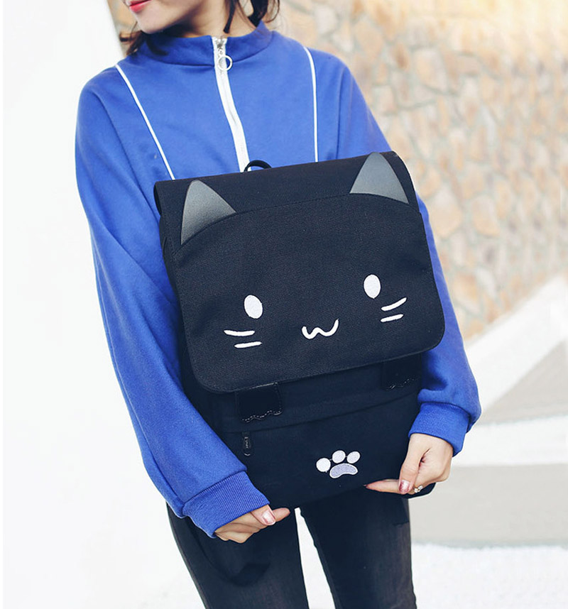 HTB139OISXXXXXcTaXXXq6xXFXXXD - Women Cute Cat Backpack Canvas Kawaii Backpacks School Bag for Student Teenagers Lovely Rucksack Cartoon Bookbags Mochilas