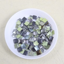 720 pcs/lot 5mm*5mm square iron-on hotfix aluminum metalic with adhesive Hot drilling DIY clothes/garment accessories