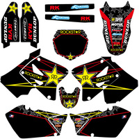 New Matching Motorcycle Graphic Decals Kit For Suzuki RM125 RM250 RM 125 250 2001 2002 2003 2004 2005 2006 2007 2008 2009 2012