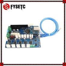 Cloned Duet 2 Ethernet усовершенствованная 32 битная электронная плата Duet V1.04, обеспечивающая Ethernet подключение для D принтеров, станков с ЧПУ
