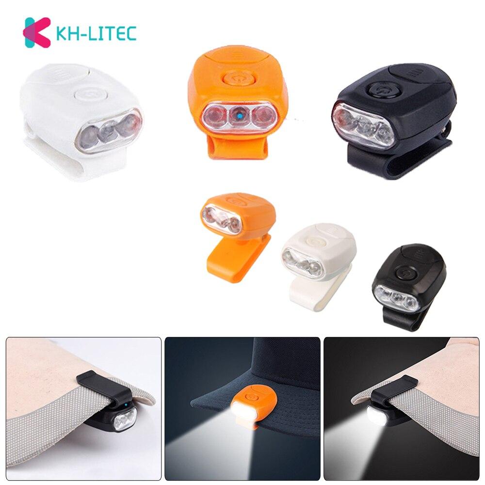 3 LED Headlamp Cap Light 90 Degree Rotatable Clip-on Hat Light Hands Bright New