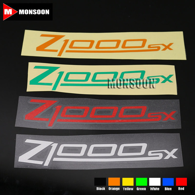 For kawasaki z1000sx z1000 sx motorcycle front rear custom inner rim decals wheel reflective stickers