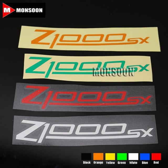 For kawasaki z1000sx z1000 sx motorcycle front rear custom inner rim decals wheel reflective stickers