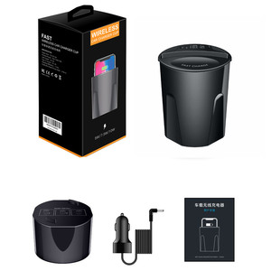 Image 4 - 696 X9 QI Car Wireless fast Charger cup for iphone Charge holder Charge Stand for Apple XS MAX/XR/X/8 PLUS for samsung note10/9