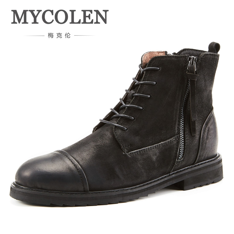 все цены на MYCOLEN New Arrival Autumn Winter BootsLuxury Brand Top Fashion Men Suede Leather Style Fashion Male Work Shoes Men Boots онлайн