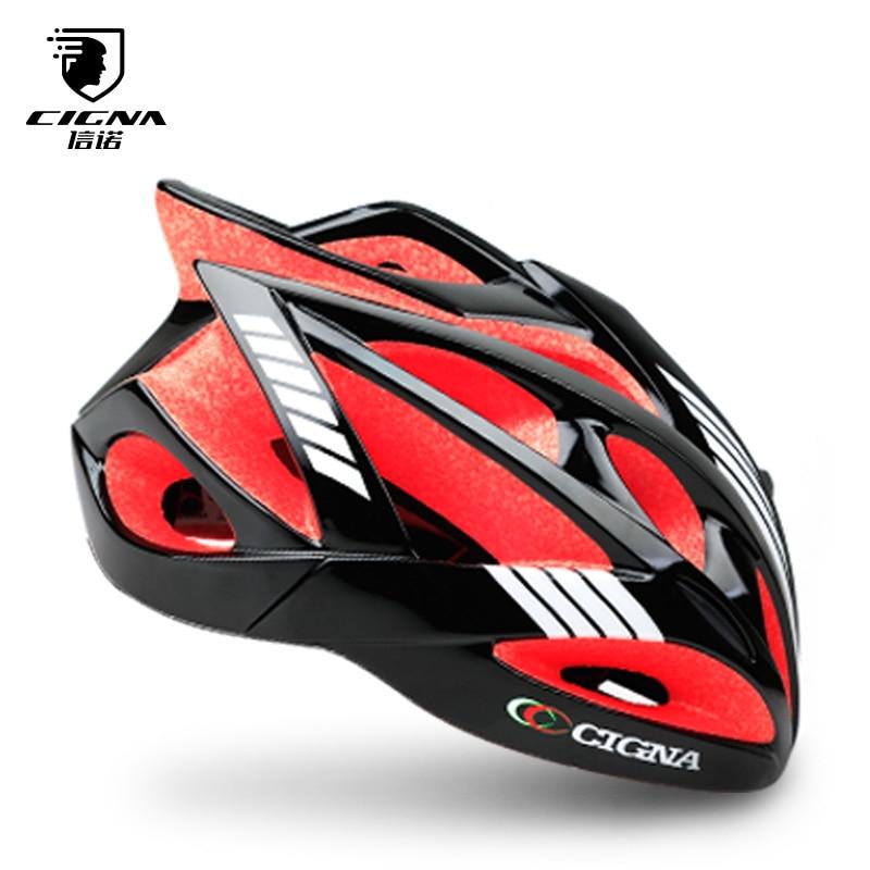 CIGNA MTB Helmet Bike Bicycle Road Mountain PC Intergrally-Molded Safe EPS Women 52-62cm