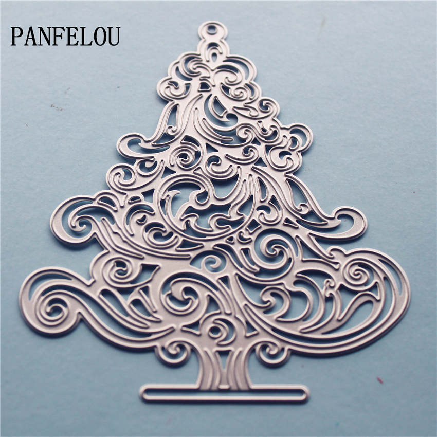 PANFELOU Metal craft Romantic decorated trees paper die cutting dies for Scrapbooking/DIY Christmas wedding Halloween cards