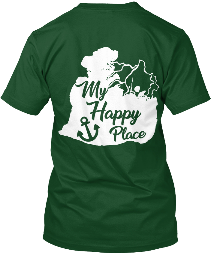 Lake St. Clair My Happy Place - popular Tagless Tee T-Shirt