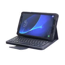 Bluetooth Keyboard with Tablet Case  English Russian Language Keyboard For Samsung Galaxy Tab A 10.1 SM-T580/SM-T585 Case Shell