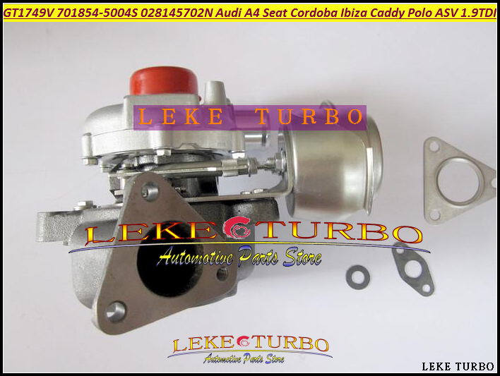 Free Ship GT1749V 701854-5004S 701854 028145702N Turbo Turbocharger For Audi A4 Seat Cordoba Ibiza 2 Leon VW Caddy Polo ASV 1.9L turbo cartridge chra core gt1749v 701854 5004s 701854 turbocharger for audi a4 seat ibiza 2 leon vw caddy polo asv 1 9l tdi 88kw