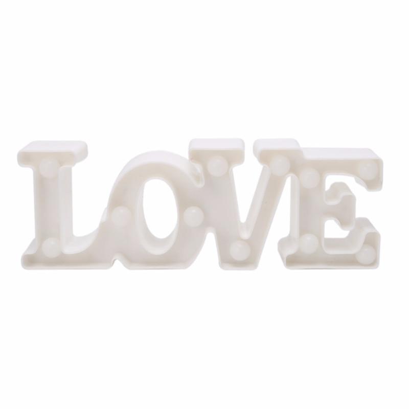 Luzes da Noite carta de amor romântico 3d Item : Love Party Decor Night Light With Retail b