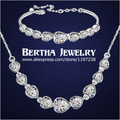 Fashion Design Bridesmaid Exquisite Jewelry Sets Necklaces Pendants Bracelets For Women With Swarovski Elements Christmas Gift