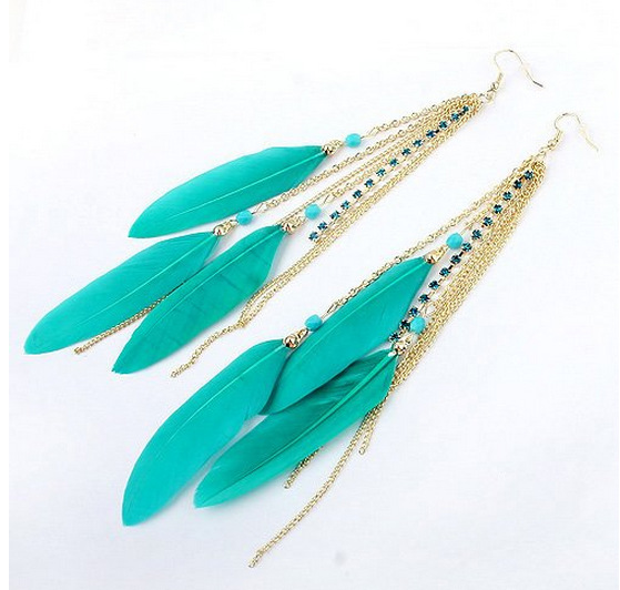 2017 Latest Designs Pendant Brincos De Festa Tel Indian Feather Earrings In Drop From Jewelry Accessories On Aliexpress Alibaba