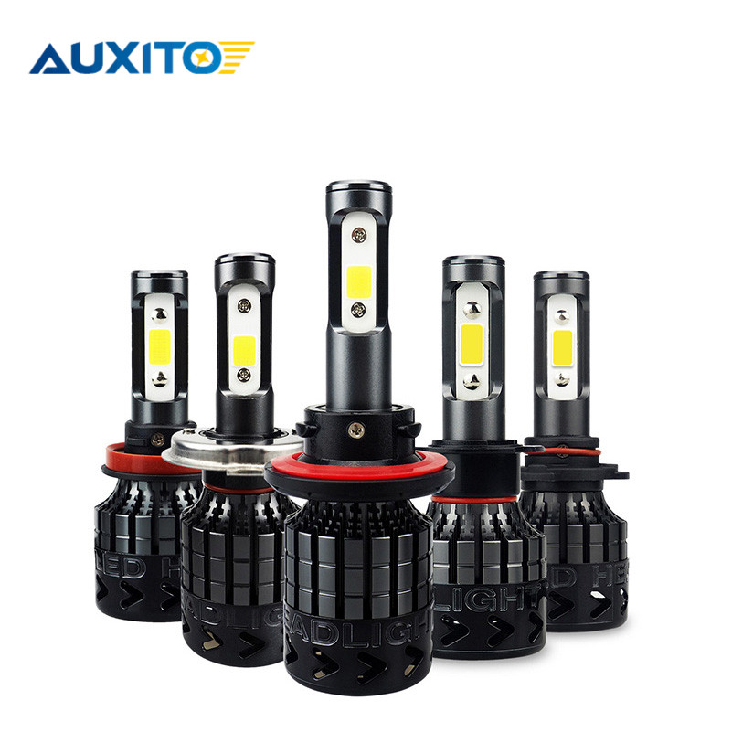 2pcs AUXITO A3 H4 H7 H13 H11 H1 9005 9006 9004 9007 9012 LED Headlight 72W 16000LM Car LED Headlights Bulb Fog Light 6500K 12V h4 h7 h11 h1 h13 h3 9004 9005 9006 9007 9012 cob led car headlight bulb hi lo beam 72w 8000lm 6500k auto headlamp 12v 24v%2