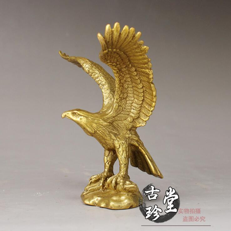 China Brass statue Realize one/'s ambition Eagle copper fengshui Statue
